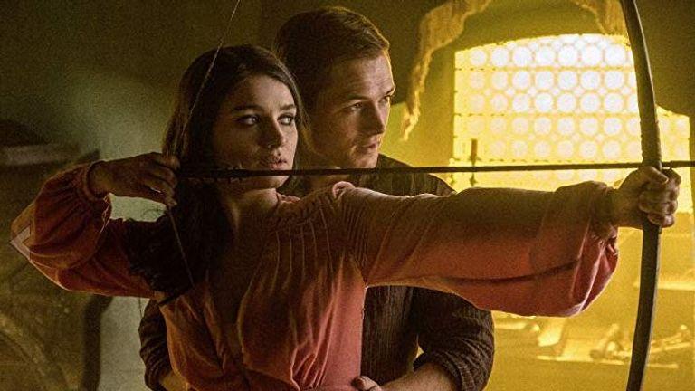 Robin Hood stars Taron Egerton and Eve Hewson (Maid Marian)