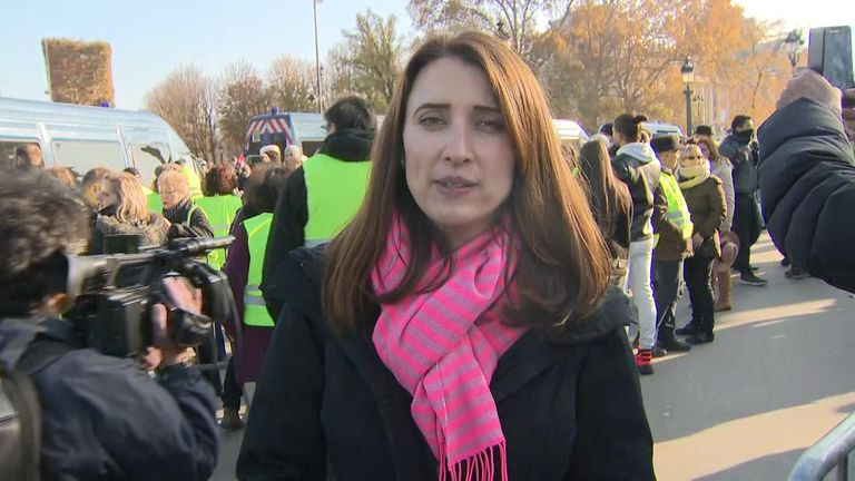 Adele Robinson was in Paris to cover the protests