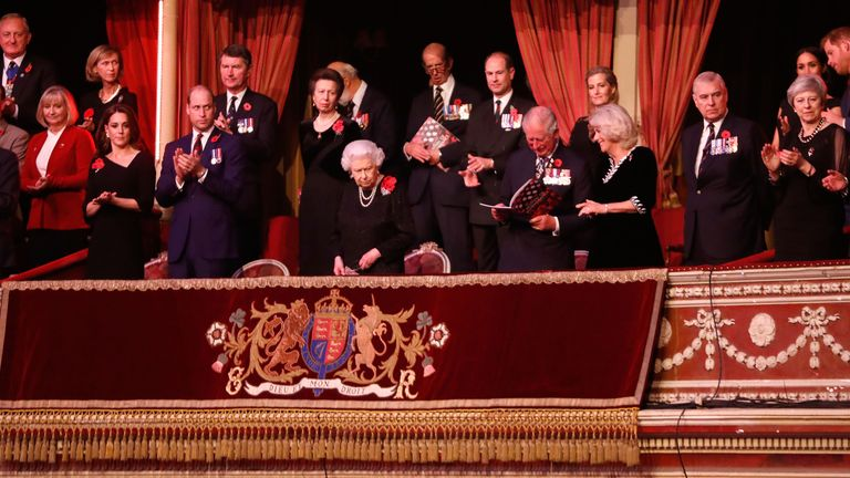 The Queen was joined by senior members of the Royal Family for the concert on Saturday night