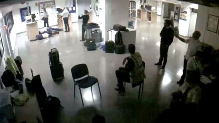 Ryanair shared CCTV footage which they said exposed staff staging the photo