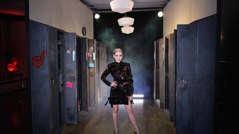 Sabrina actress Kiernan Shipka a premiere event for the Netflix show