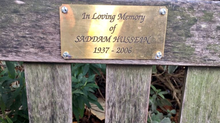 The plaque has now been removed - but its origins remain unknown. Pic: Victoria Richards