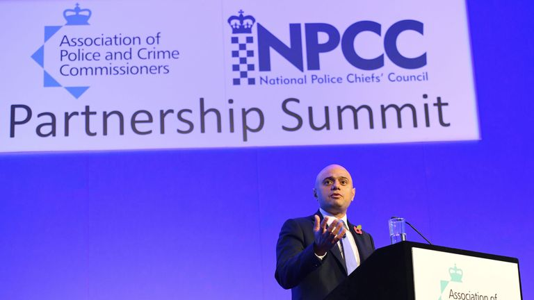 Sajid Javid  acknowledged that forces are 'feeling stretched'