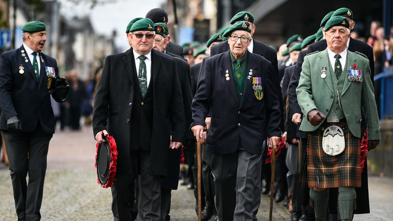 Veterans commemorate the centenary of the First World War