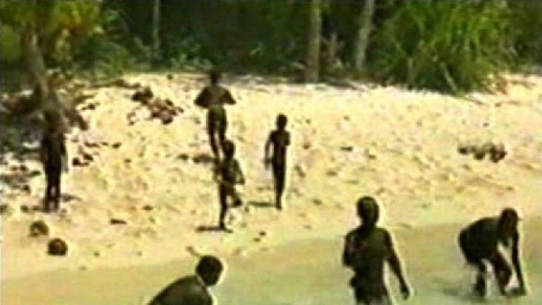 The Sentinelese have lived on their island for up to 55,000 years and have no contact with the outside world. Pic: © Survival International