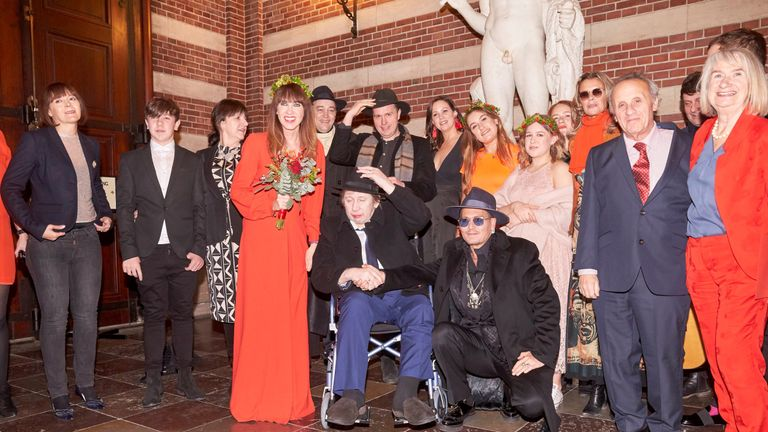 The Pogues singer Shane MacGowan wedding. Pic: The Mega Agency
