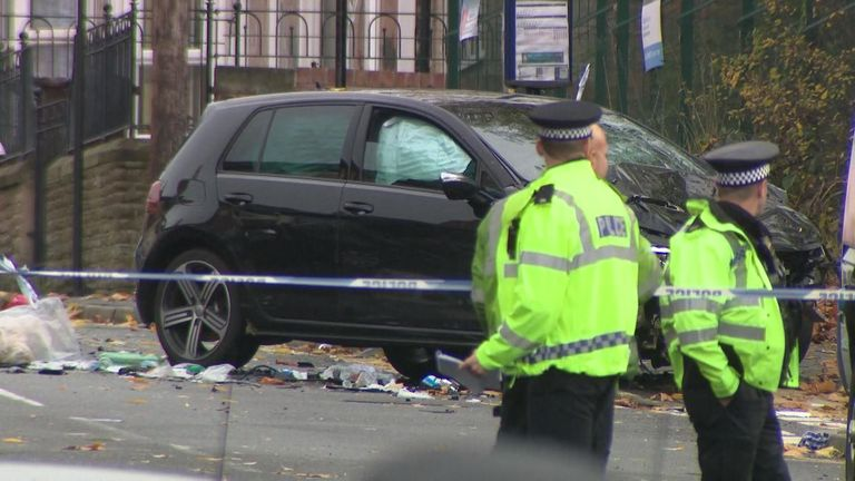The victims had been travelling in a people carrier, when it was hit by a  black VW Golf, which was earlier being pursued by police