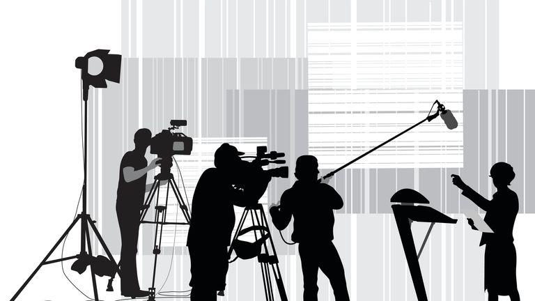silhouette of tv presenter