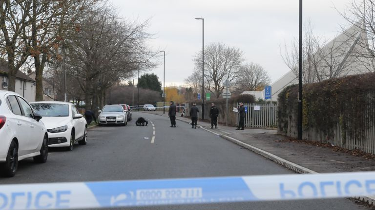 Police activity near the scene in Deedmore Road, Wood End, Coventry, after a a 16-year-old was stabbed to death