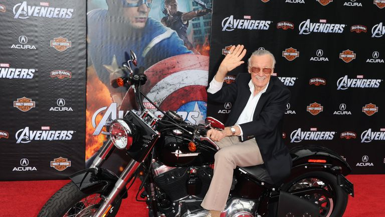 Stan Lee at the California premiere of The Avengers in 2012