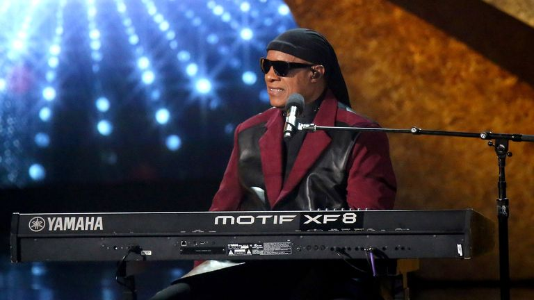 "Stevie Wonder at ""Q 85: A Musical Celebration for Quincy Jones"" presented by BET Networks at Microsoft Theater on September 25, 2018 in Los Angeles, California."