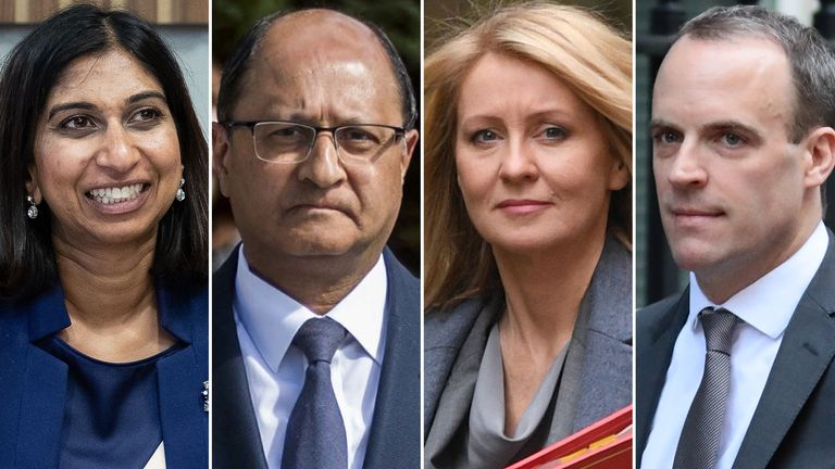 Suella Braverman, Shailesh Vara, Esther McVey and Dominic Raab