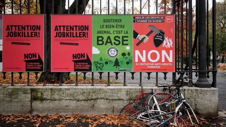 Swiss citizens voted on 25 November on three issues