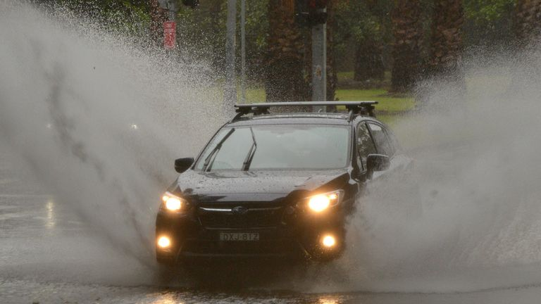 A month's worth of rain fell on Sydney in one morning on Wednesday