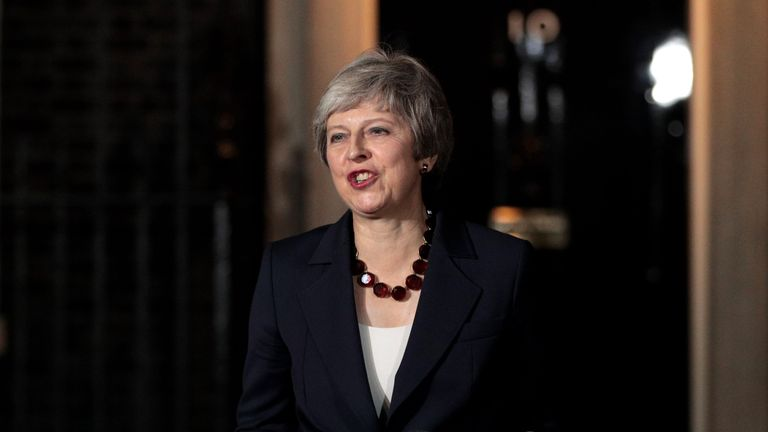 Theresa May delivers a statement after the cabinet approved the wording of the draft Brexit agreement