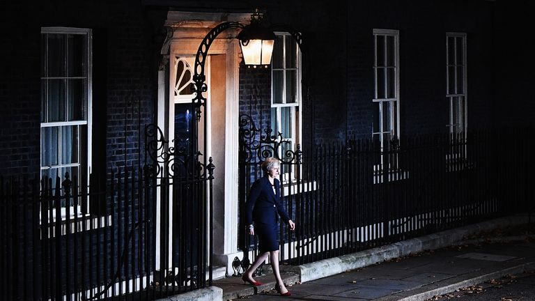 Theresa May leaving No 10 Downing Street