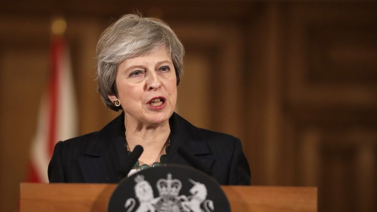 Prime Minister Theresa May holds a press conference at 10 Downing Street, London, to discuss her Brexit plans.