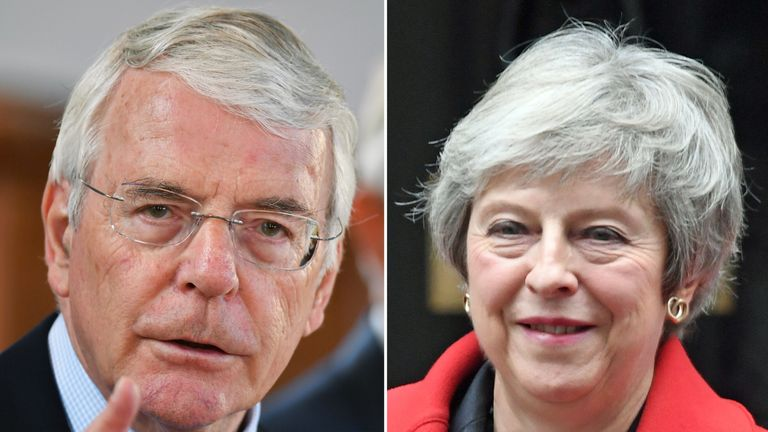 Theresa May and John Major have both had to face down Eurosceptic Tory rebellions