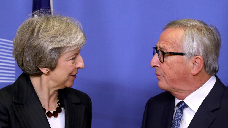 Theresa May and Jean-Claude Juncker met in Brussels for talks on Wednesday night