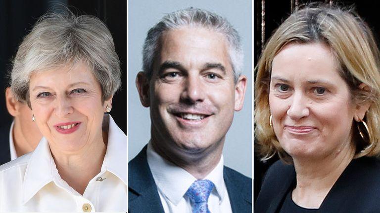 Theresa May, Stephen Barclay and Amber Rudd