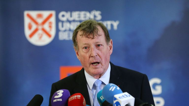 Lord Trimble had accused Dublin of 'riding roughshod' over the Good Friday Agreement