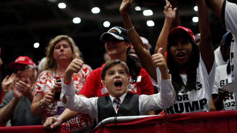 Trump supporters of all ages have been cheering the Republicans on
