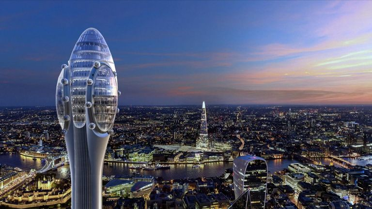 The planned building, designed by Foster + Partners,  will be the tallest skyscraper in London's financial district. Pic: DBOX for Foster + Partners