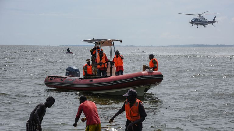 Rescuers search for victims
