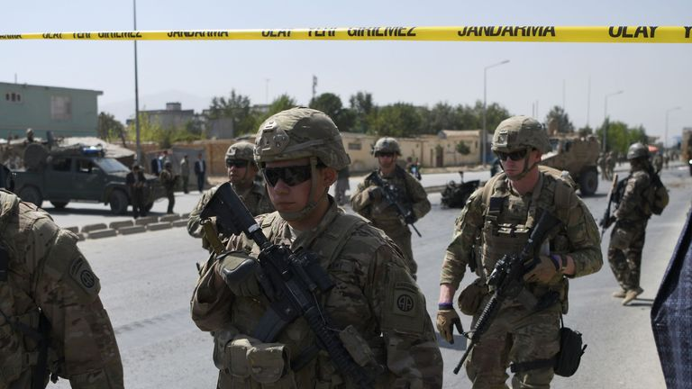 US soldiers in Kabul, Afghanistan