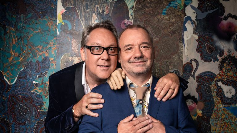 Vic Reeves and Bob Mortimer, Big Night Out. Pic: BBC/Sophie Mutevelian