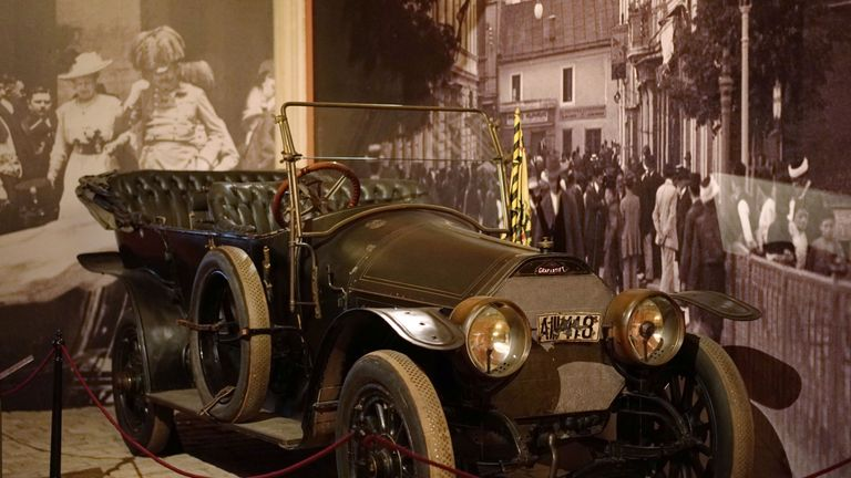 The car in which Prince Franz Ferdinand was assassinated is on display at Vienna's Austrian Military Museum (HGM)