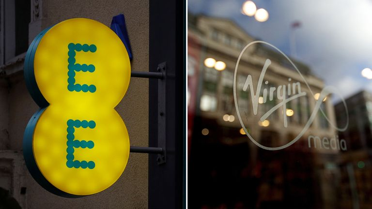EE and Virgin Media have been fined