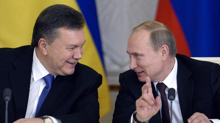 Russia's President Vladimir Putin regarded Ukrainian President  Vladimir Putin as an ally