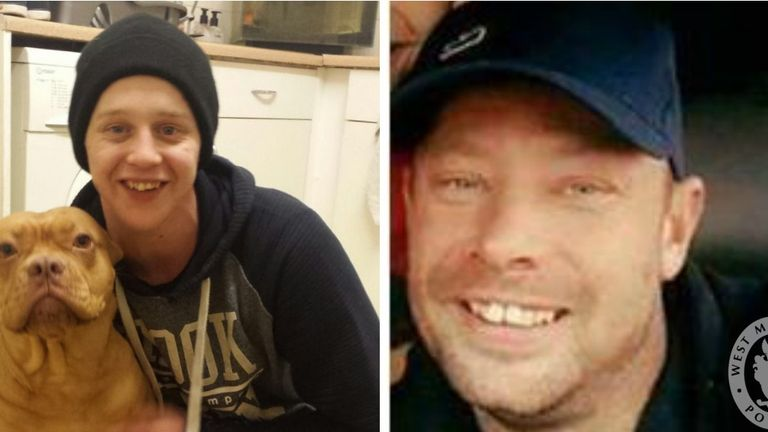 A woman has been arrested as part of the murder investigation into the deaths of Daniel Shaw (left) and Johnny Robbins