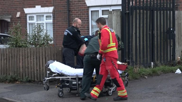 west mids ambulance stabbings - sky rushes
