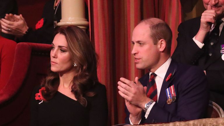 The Duke and Duchess of Cambridge watched on as actors and singers performed