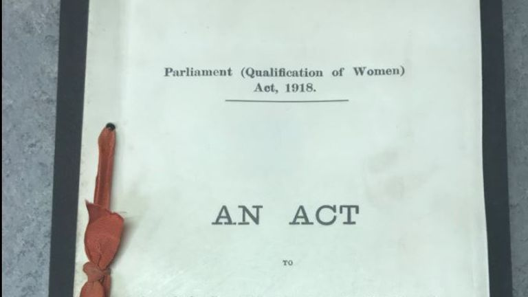 Qualification of Women's Act