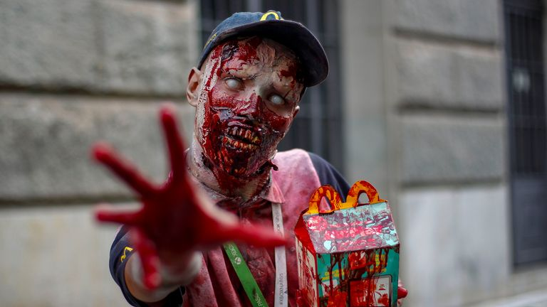 Thee annual Zombie Walk in Sao Paulo