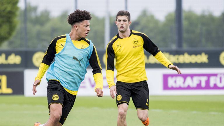 Jadon Sancho backed by Christian Pulisic for greatness