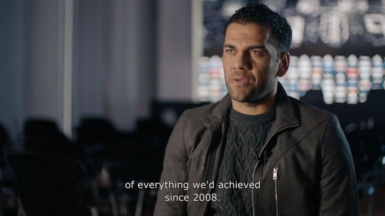 In Take the Ball, Pass the Ball, Dani Alves explains why the 2011 Champions League final was Barcelona's 'crowning moment' (Universal Pictures Home Entertainment)