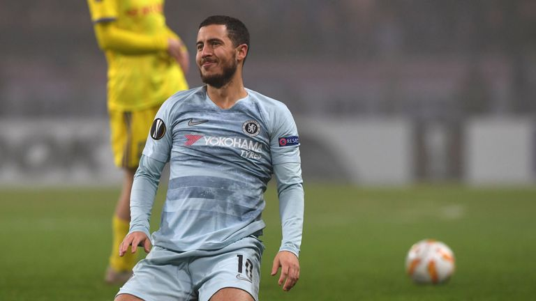 Eden Hazard to miss Chelsea's Europa League match against PAOK