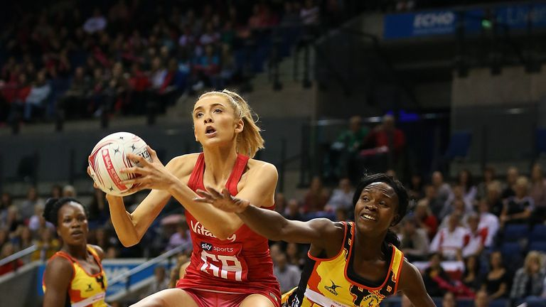 Highlights as England took on Uganda in the first game of the Vitality Netball International Series