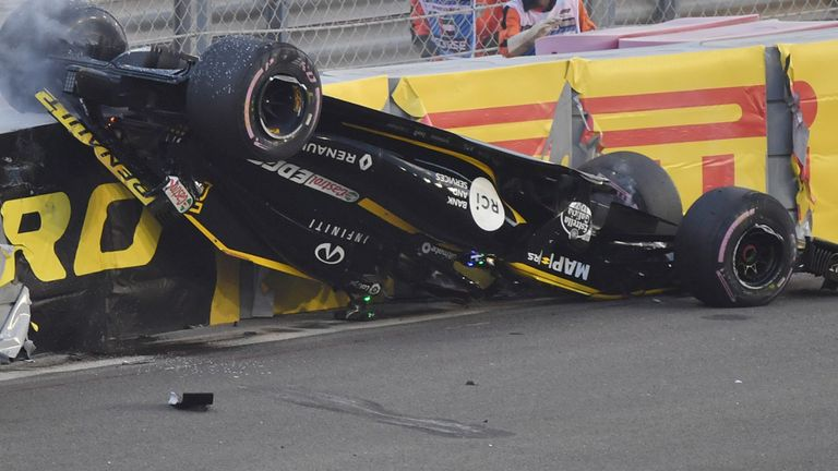 Abu Dhabi GP: Nico Hulkenberg crashes out and flips car first lap | F1 News