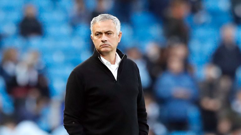 1:03                                               Manchester United manager Jose Mourinho blamed having three away games in eight days for his side's 3-1