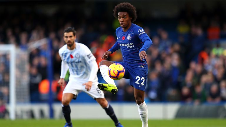 Stop! Don't ask about Willian's contract - Sarri