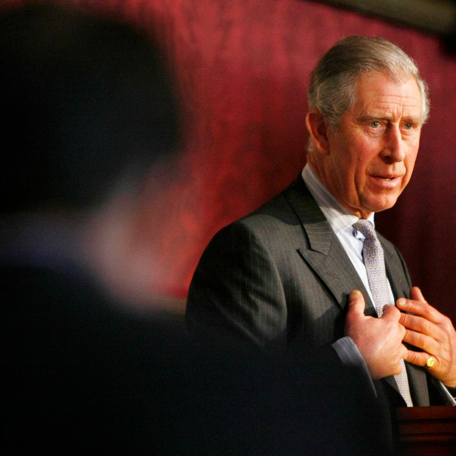 Prince Charles, Prince of Wales addresses delegates at the annual conference of the Prince's Foundation for the Built Environment