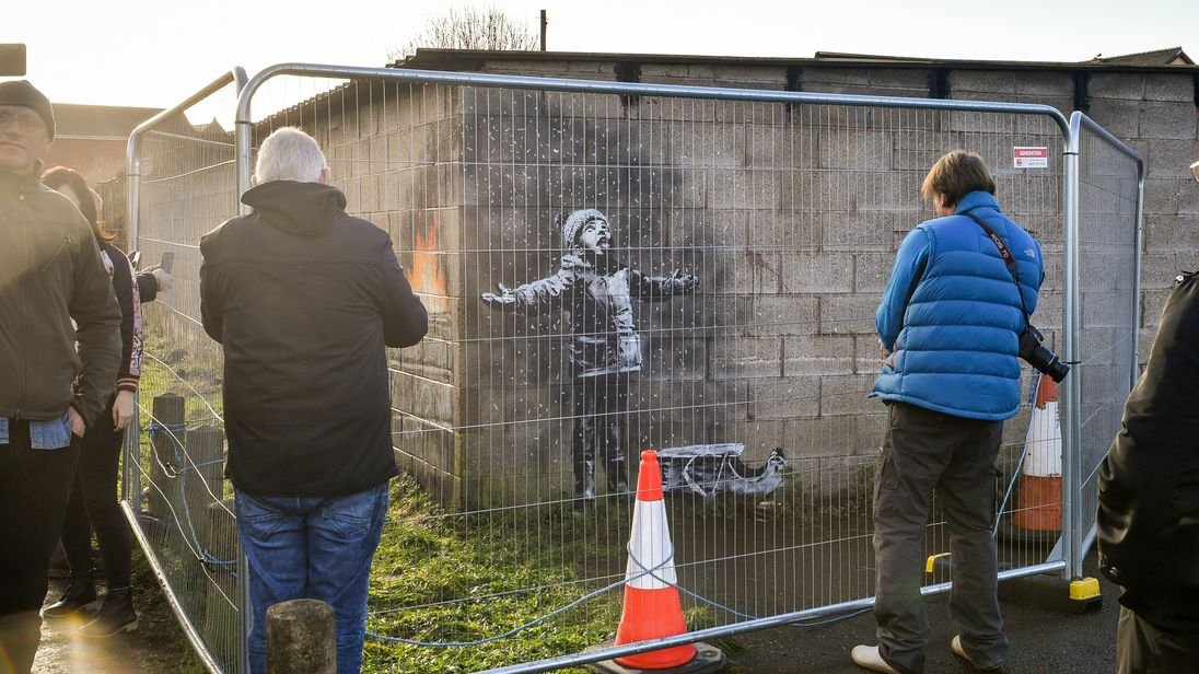 Banksy's new mural in South Wales