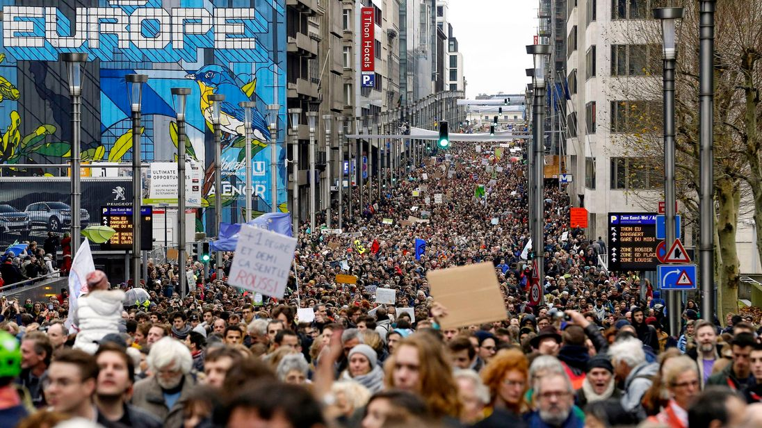 The protesters want government to take radical action on the issue
