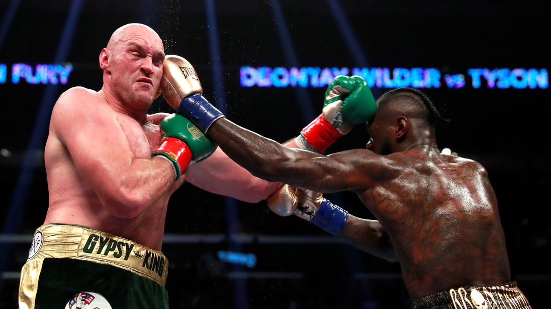 Image result for deontay wilder vs tyson fury fight