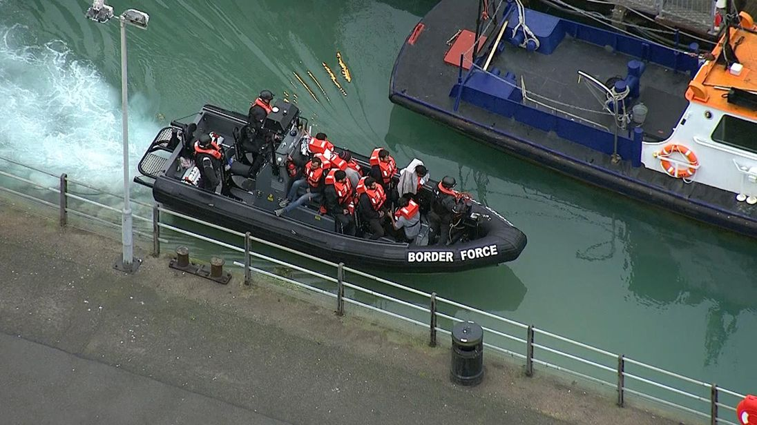 United Kingdom  alarm as migrant boats cross Channel